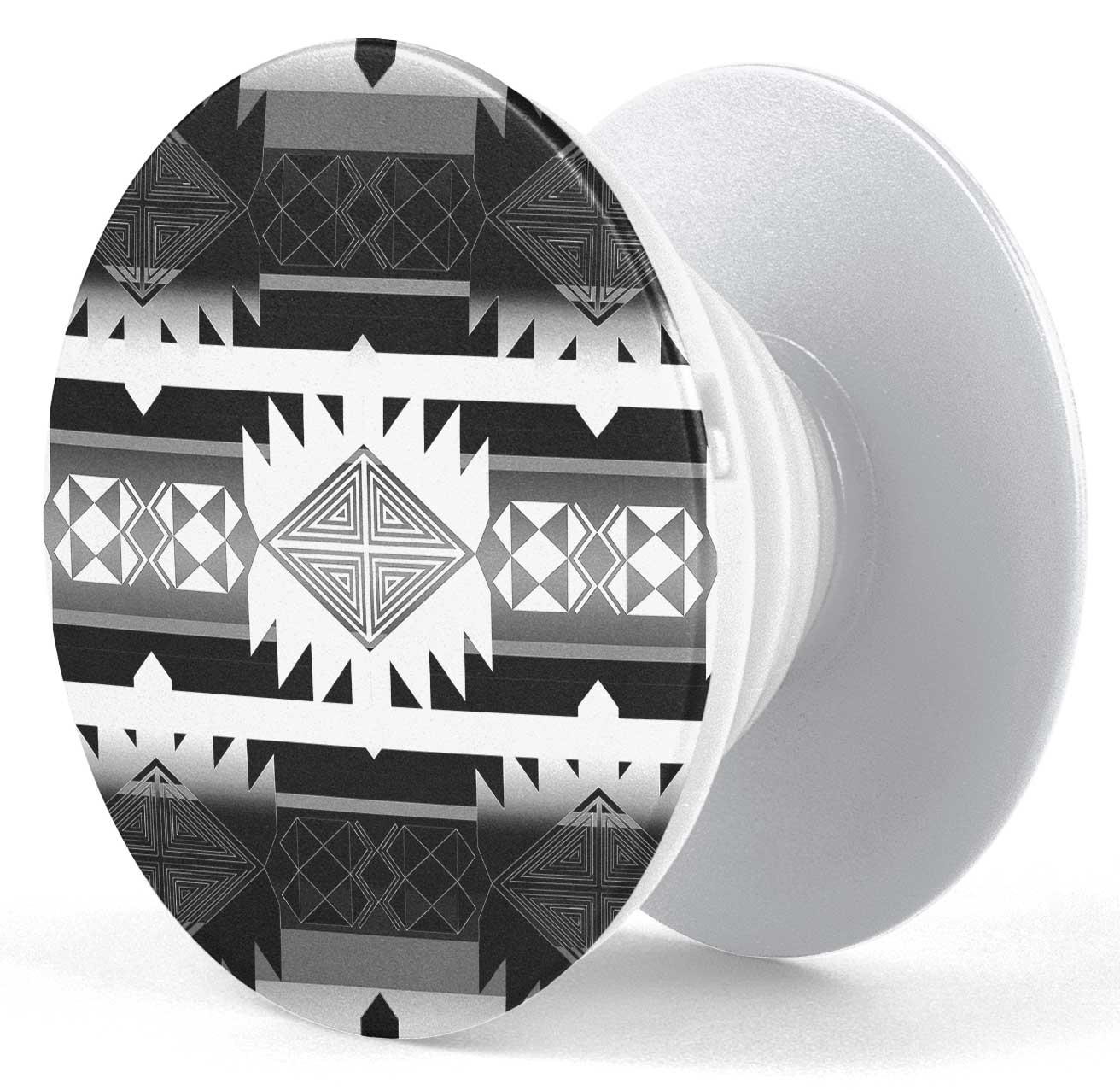 Okotoks Black and White Pop socket (White) PopSocket 49 Dzine
