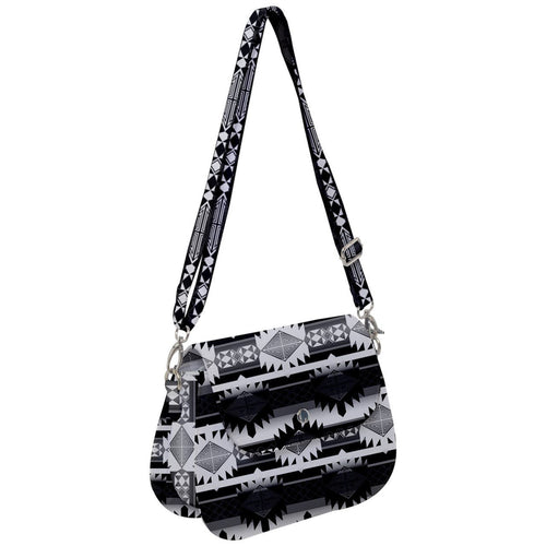 Okotoks Black and White Saddle Handbag cross-body-handbags 49 Dzine