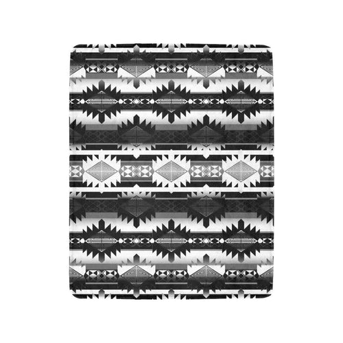 Okotoks Black and White Ultra-Soft Micro Fleece Blanket 40