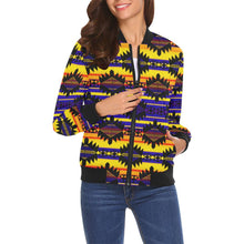 Okotoks Eagle All Over Print Bomber Jacket for Women (Model H19) All Over Print Bomber Jacket for Women (H19) e-joyer