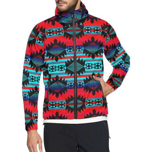 Okotoks Mountain All Over Print Windbreaker for Unisex (Model H23) All Over Print Windbreaker for Men (H23) e-joyer