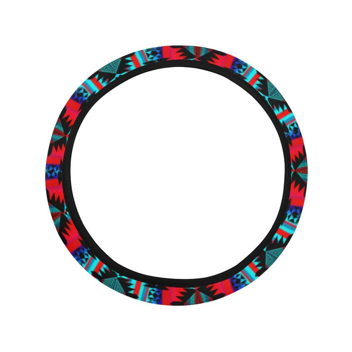 Okotoks Mountain Steering Wheel Cover with Elastic Edge Steering Wheel Cover with Elastic Edge e-joyer
