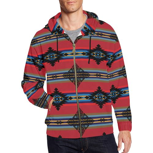 Plateau Ride All Over Print Full Zip Hoodie for Men/Large Size (Model H14) All Over Print Full Zip Hoodie for Men/Large (H14) e-joyer
