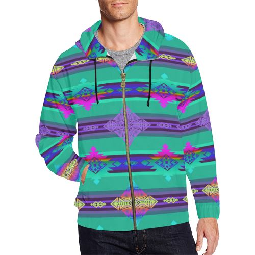 Plateau Riverrun All Over Print Full Zip Hoodie for Men/Large Size (Model H14) All Over Print Full Zip Hoodie for Men/Large (H14) e-joyer