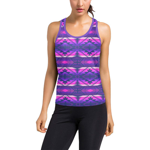 Plateau War Party Women's Racerback Tank Top (Model T60) Racerback Tank Top (T60) e-joyer