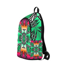 Prairie Fire Deep Lake Fabric Adult Backpack (Model 1659) Casual Backpack for Adult (1659) e-joyer