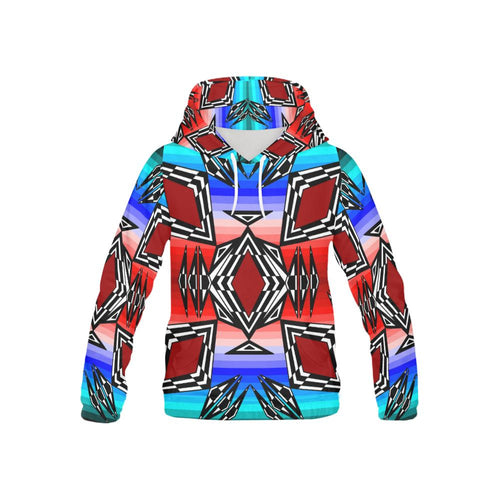 Prairie Fire July All Over Print Hoodie for Kid (USA Size) (Model H13) All Over Print Hoodie for Kid e-joyer