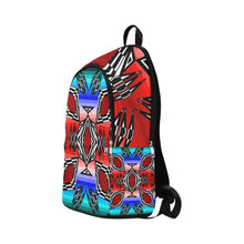 Prairie Fire July Fabric Adult Backpack (Model 1659) Casual Backpack for Adult (1659) e-joyer