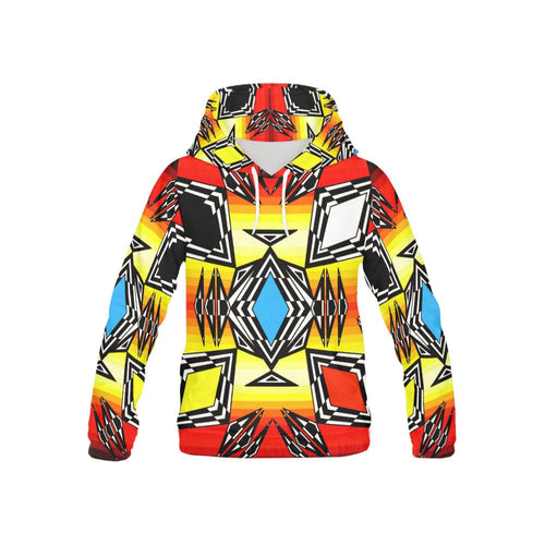 Prairie Fire Medicine Wheel All Over Print Hoodie for Kid (USA Size) (Model H13) All Over Print Hoodie for Kid e-joyer