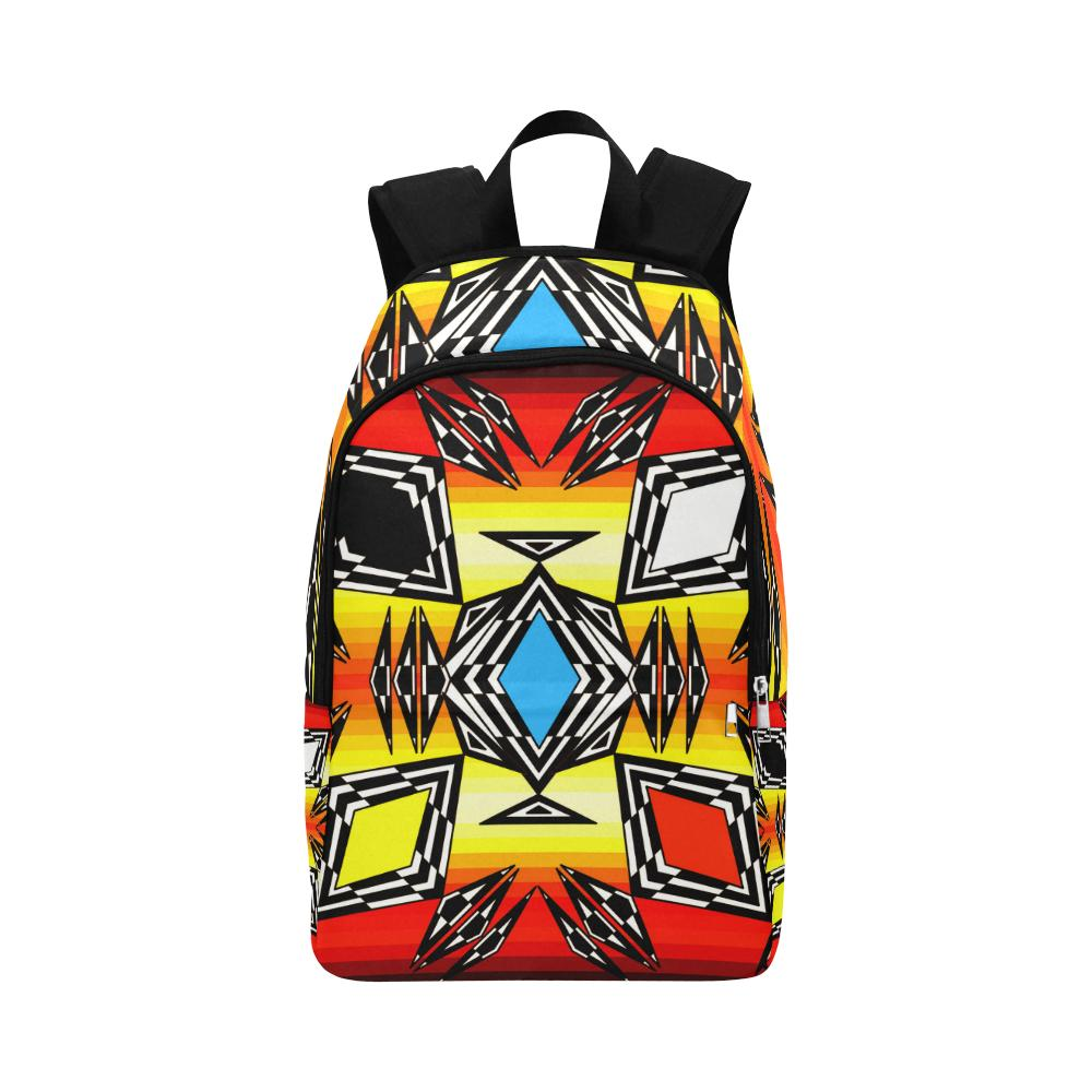 Prairie Fire Medicine Wheel Fabric Adult Backpack (Model 1659) Casual Backpack for Adult (1659) e-joyer