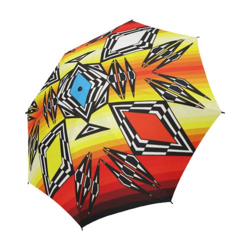 Prairie Fire Medicine Wheel Semi-Automatic Foldable Umbrella Semi-Automatic Foldable Umbrella e-joyer
