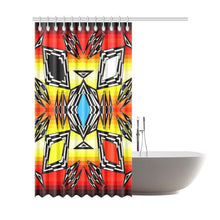 "Prairie Fire Medicine Wheel Shower Curtain 72""x84"" Shower Curtain 72""x84"" e-joyer"