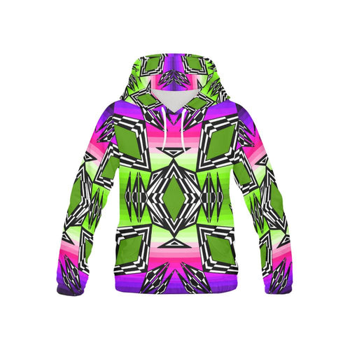 Prairie Fire Night Sky All Over Print Hoodie for Kid (USA Size) (Model H13) All Over Print Hoodie for Kid e-joyer