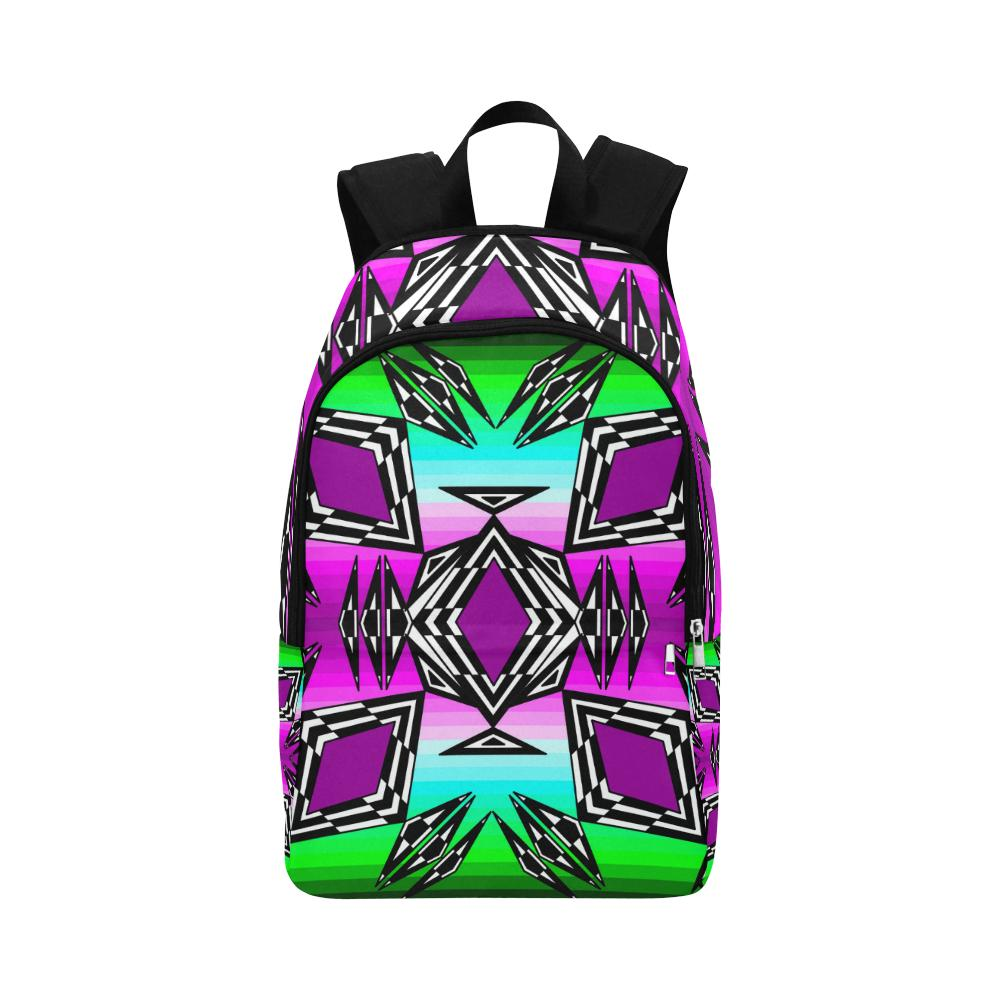 Prairie Fire Sunrise Fabric Adult Backpack (Model 1659) Casual Backpack for Adult (1659) e-joyer