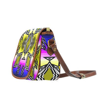 Prairie Fire Sunset Saddle Bag/Large (Model 1649) Saddle Bag/Large e-joyer