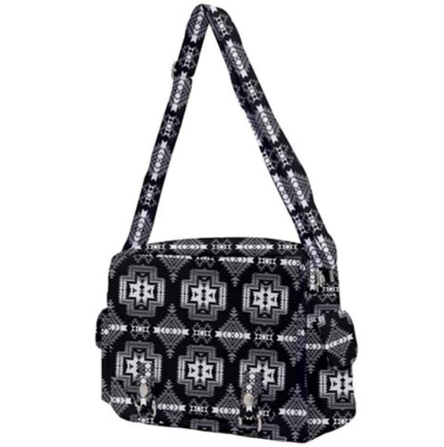 Pretty Blanket Black and White Buckle Multifunction Bag 49 Dzine