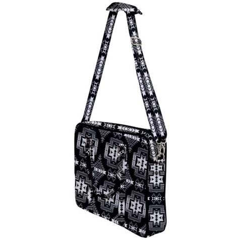 Pretty Blanket Black and White Cross Body Office Bag 49 Dzine