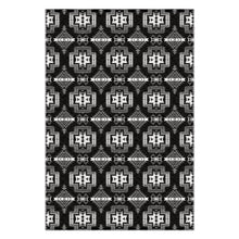 Pretty Blanket Black and White Flat Weave Rug 49 Dzine 48x72 inch With