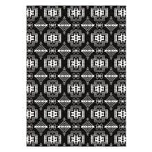 Pretty Blanket Black and White Flat Weave Rug 49 Dzine 60x84 inch With