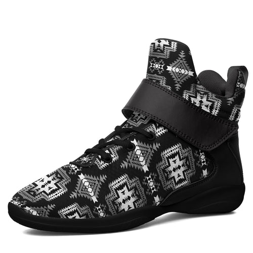Pretty Blanket Black and White Ipottaa Basketball / Sport High Top Shoes -Black Sole 49 Dzine US Men 7 / EUR 40 Black Sole with Black Strap