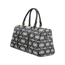 Pretty Blanket Black and White New Waterproof Travel Bag/Large (Model 1639) Waterproof Travel Bags (1639) e-joyer