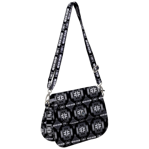 Pretty Blanket Black and White Saddle Handbag cross-body-handbags 49 Dzine