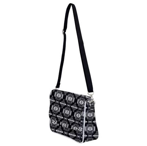 Pretty Blanket Black and White Shoulder Bag with Back Zipper 49 Dzine