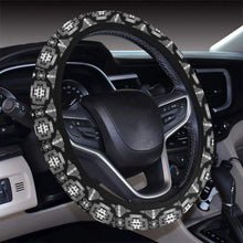 Pretty Blanket Black and White Steering Wheel Cover with Elastic Edge Steering Wheel Cover with Elastic Edge e-joyer