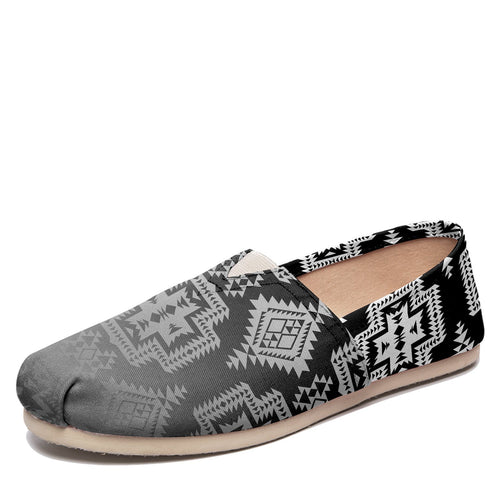 Pretty Blanket Black and White Trade Casual Unisex Slip On Shoe Herman