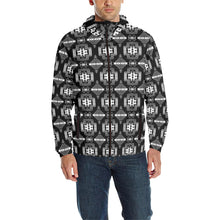 Pretty Blanket Black and White Unisex Quilted Coat All Over Print Quilted Windbreaker for Men (H35) e-joyer