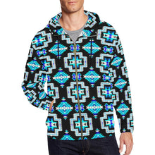 Pretty Blanket Cool Sky All Over Print Full Zip Hoodie for Men (Model H14) All Over Print Full Zip Hoodie for Men (H14) e-joyer