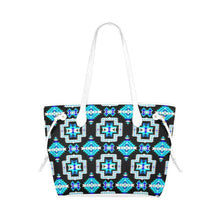 Pretty Blanket Cool Sky Clover Canvas Tote Bag (Model 1661) Clover Canvas Tote Bag (1661) e-joyer