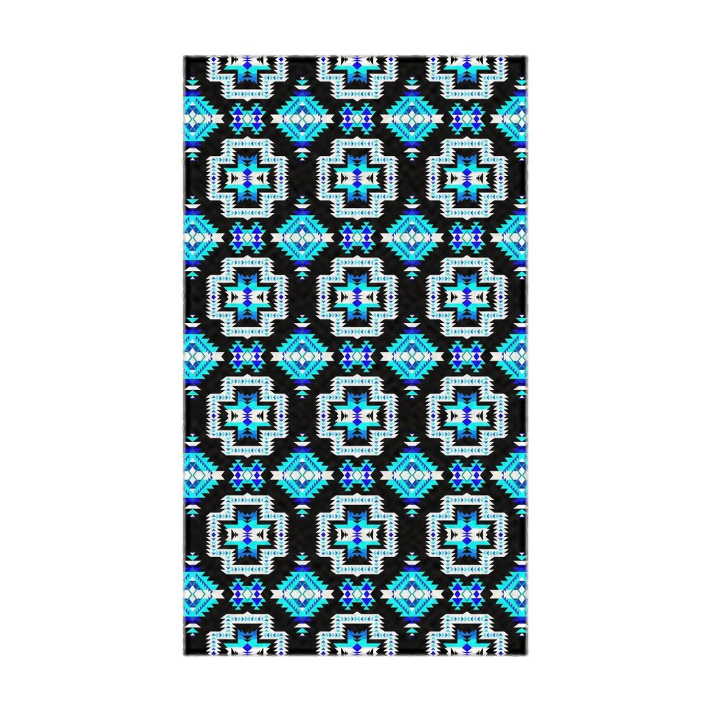 Pretty Blanket Cool Sky Flat Weave Rug 49 Dzine 22.5x37 inch With