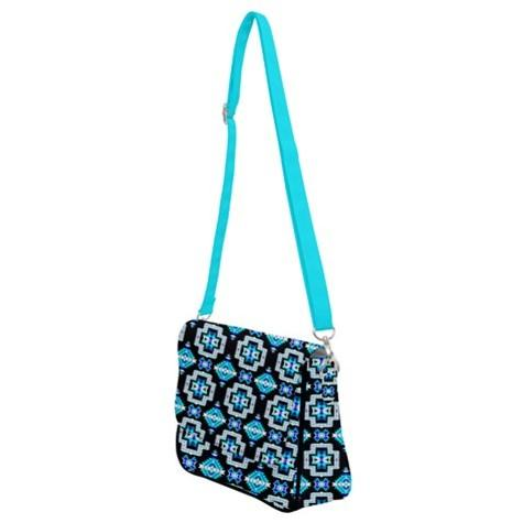 Pretty Blanket Cool Sky Shoulder Bag with Back Zipper 49 Dzine