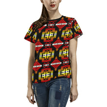 Pretty Blanket Fire All Over Print T-shirt for Women/Large Size (USA Size) (Model T40) All Over Print T-Shirt for Women/Large (T40) e-joyer