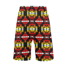 Pretty Blanket Fire Men's All Over Print Casual Shorts (Model L23) Men's Casual Shorts (L23) e-joyer