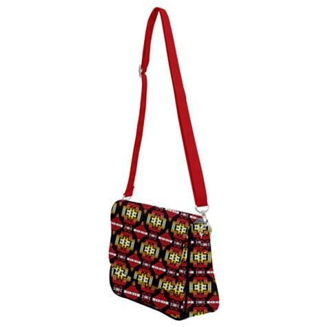 Pretty Blanket Fire Shoulder Bag with Back Zipper 49 Dzine