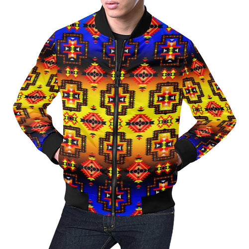 Pretty Blanket Horizon All Over Print Bomber Jacket for Men/Large Size (Model H19) All Over Print Bomber Jacket for Men/Large (H19) e-joyer