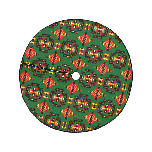 Pretty Blanket Hunter Green Christmas Tree Skirt 47