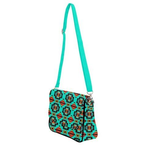 Pretty Blanket Jungle Shoulder Bag with Back Zipper 49 Dzine