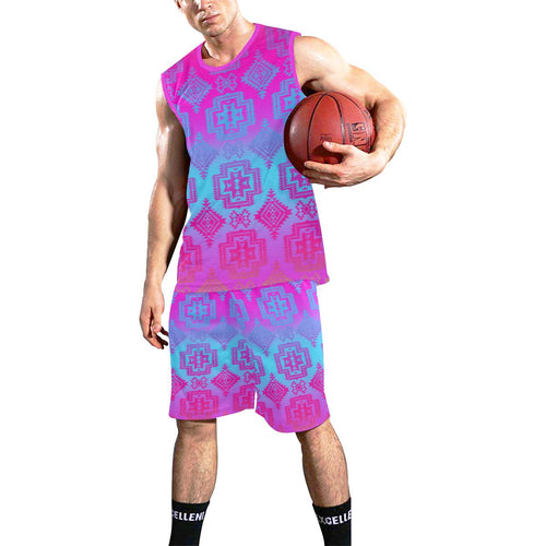 Pretty Blanket Meschica Maze All Over Print Basketball Uniform Basketball Uniform e-joyer