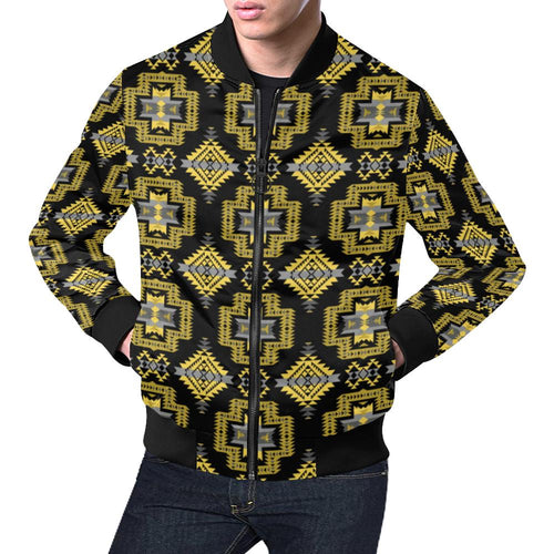 Pretty Blanket Ocre All Over Print Bomber Jacket for Men/Large Size (Model H19) All Over Print Bomber Jacket for Men/Large (H19) e-joyer