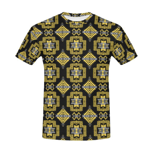 Pretty Blanket Ocre All Over Print T-Shirt for Men (USA Size) (Model T40) All Over Print T-Shirt for Men (T40) e-joyer