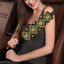 Pretty Blanket Ocre Car Seat Belt Cover 7''x12.6'' Car Seat Belt Cover 7''x12.6'' e-joyer