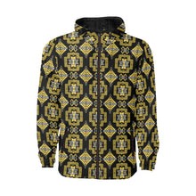 Pretty Blanket Ocre Unisex Quilted Coat All Over Print Quilted Windbreaker for Men (H35) e-joyer