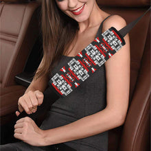 Pretty Blanket Red Stripe Car Seat Belt Cover 7''x12.6'' Car Seat Belt Cover 7''x12.6'' e-joyer