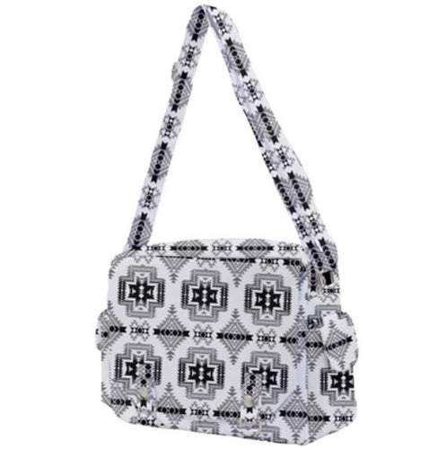 Pretty Blanket White and Black Buckle Multifunction Bag 49 Dzine
