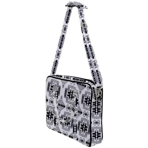 Pretty Blanket White and Black Cross Body Office Bag 49 Dzine
