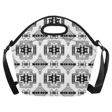 Pretty Blanket White and Black Neoprene Lunch Bag/Large (Model 1669) Neoprene Lunch Bag/Large (1669) e-joyer