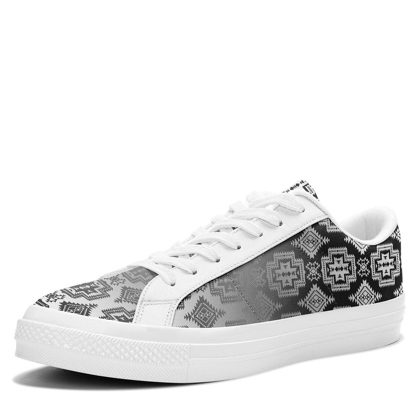 Pretty Blanket White and Black Trade Aapisi Low Top Canvas Shoes White Sole 49 Dzine